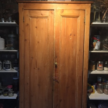 noticing things I really love. just an old kitchen cupboard.